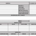 FORMATO DE ORDEN DE TRABAJO DE MANTENIMIENTO EN EXCEL